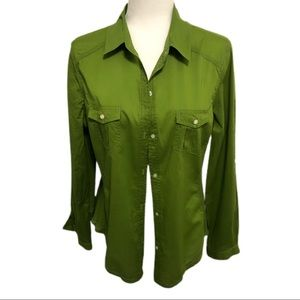 Old Navy Button Down Shirt, Green, Size L